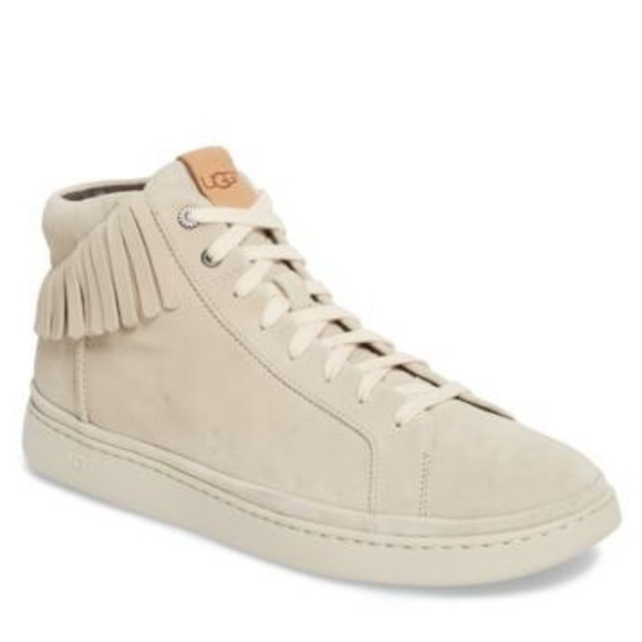 9bd2ae100ad Ugg Cali High Top Fringe Sneaker Men White sz 15
